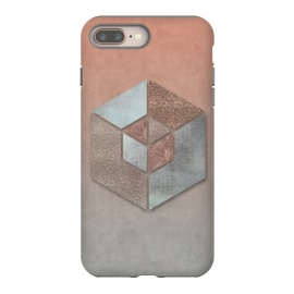 iPhone 8/7 plus  Copper Gray Hexagon by Andrea Haase
