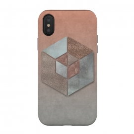Copper Gray Hexagon by Andrea Haase