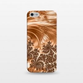 iPhone 5/5E/5s  Copper Floral Fractal by Andrea Haase