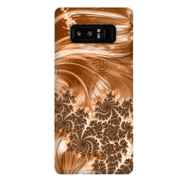 Galaxy Note 8  Copper Floral Fractal by Andrea Haase