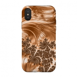 iPhone Xs / X  Copper Floral Fractal by