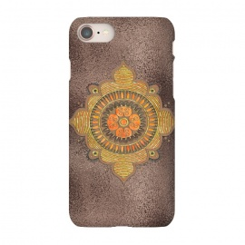 iPhone 8/7  Mandala On Copper by Andrea Haase