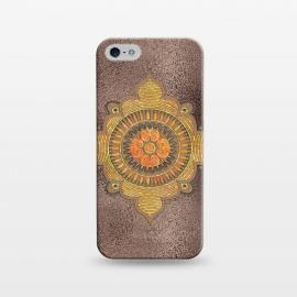 iPhone 5/5E/5s  Mandala On Copper by Andrea Haase