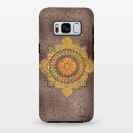Galaxy S8+  Mandala On Copper by Andrea Haase