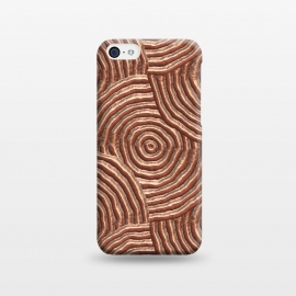 iPhone 5C  Copper Circular Engravings by Andrea Haase