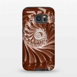 Galaxy S7  Elegant Copper Fractal by Andrea Haase