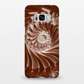 Galaxy S8+  Elegant Copper Fractal by Andrea Haase
