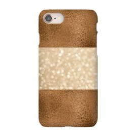 iPhone 8/7  Faux Glitter And Copper by Andrea Haase