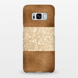 Galaxy S8+  Faux Glitter And Copper by Andrea Haase