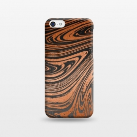 iPhone 5C  Copper Black Faux Marble by Andrea Haase