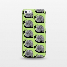 iPhone 5C  Cartoon Snail With Spiral Eyes Pattern by Boriana Giormova