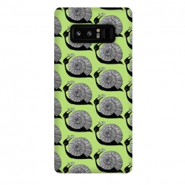Galaxy Note 8  Cartoon Snail With Spiral Eyes Pattern by Boriana Giormova