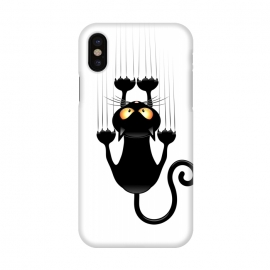 iPhone X  Fun Cat Cartoon Scratching Wall by BluedarkArt