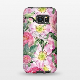 Galaxy S7  Vintage Dog Roses by Utart