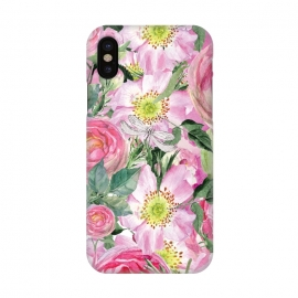 iPhone X  Vintage Dog Roses by Utart