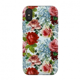 iPhone Xs / X  Vintage roses and Forget Me Not by