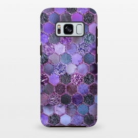 Galaxy S8+  Purple Metal Honeycomb Pattern by Utart
