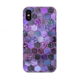 iPhone X  Purple Metal Honeycomb Pattern by Utart