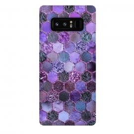 Galaxy Note 8  Purple Metal Honeycomb Pattern by Utart
