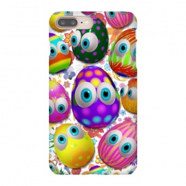 iPhone 8/7 plus  Cute Easter Eggs Cartoon 3d Pattern by