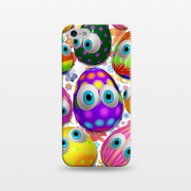 iPhone 5/5E/5s  Cute Easter Eggs Cartoon 3d Pattern by BluedarkArt
