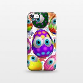 iPhone 5C  Cute Easter Eggs Cartoon 3d Pattern by BluedarkArt