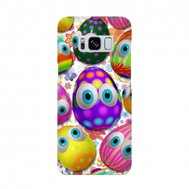 Cute Easter Eggs Cartoon 3d Pattern by BluedarkArt
