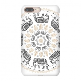 iPhone 8/7 plus  Elephant mandala white by  (mandala,elephant,pattern)