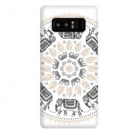 Galaxy Note 8  Elephant mandala white by