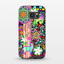 Galaxy S7  Mandalas, Cats & Flowers Fantasy Pattern  by BluedarkArt
