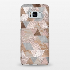 Galaxy S8+  Rose Gold and Copper Triangle Pattern by Utart