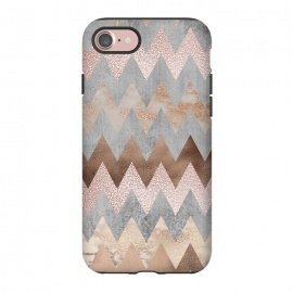 iPhone 8/7  Rose Gold Marble Chevron by Utart