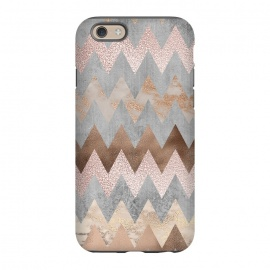 iPhone 6/6s  Rose Gold Marble Chevron by Utart