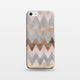 iPhone 5C  Rose Gold Marble Chevron by Utart