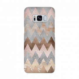 Rose Gold Marble Chevron by Utart