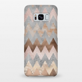 Galaxy S8+  Rose Gold Marble Chevron by Utart