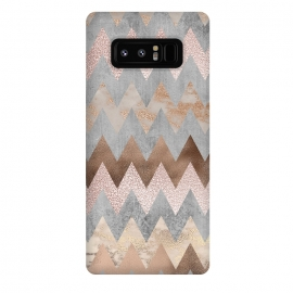 Galaxy Note 8  Rose Gold Marble Chevron by Utart