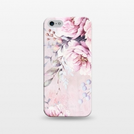 iPhone 5/5E/5s  Pink Watercolor Roses by Utart