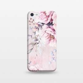 iPhone 5C  Pink Watercolor Roses by Utart