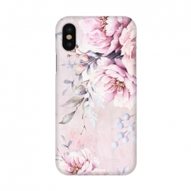 iPhone X  Pink Watercolor Roses by Utart