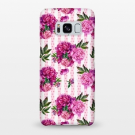 Galaxy S8+  Stripes and Peonies  by Utart