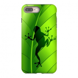 iPhone 8/7 plus  Frog Shape on Green Leaf by BluedarkArt