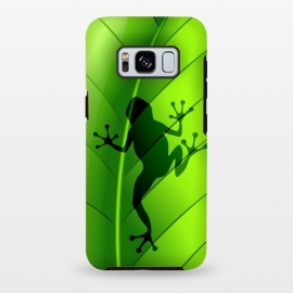 Galaxy S8+  Frog Shape on Green Leaf by BluedarkArt