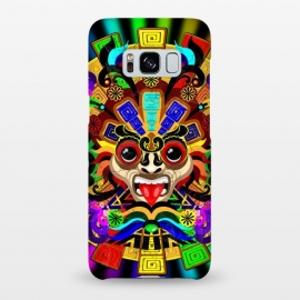 Galaxy S8+  Aztec Warrior Mask Rainbow Colors by BluedarkArt