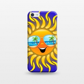 iPhone 5C  Summer Sun Cartoon with Sunglasses by BluedarkArt