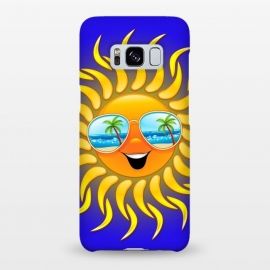 Galaxy S8+  Summer Sun Cartoon with Sunglasses by BluedarkArt