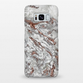 Galaxy S8+  Marble And Copper Glamour by Andrea Haase