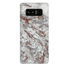 Galaxy Note 8  Marble And Copper Glamour by