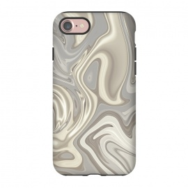 iPhone 8/7  Greige Glamorous Faux Marble by Andrea Haase (beige, grey, gray, greige, abstract, glamour, marble, liquid, elegant, mineral, watercolor, pastel, gemstone, soft, beautiful, retro, agate, gift, extravagant, exquisite, paint, stone, quartz)