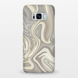 Galaxy S8+  Greige Glamorous Faux Marble by Andrea Haase